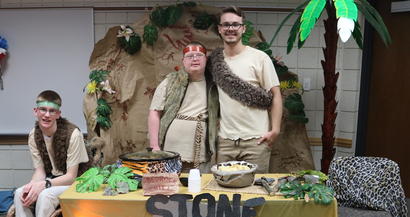 chili cook off with stonage themed booth and costumes