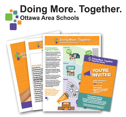 items from the Doing More Together fundraising packet