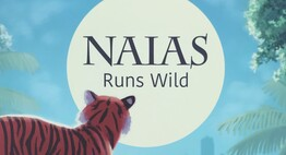 tiger in front of moon that says NAIAS runs wild