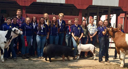 Careerline Tech Center Ag and Animal Science students with their winning animals and awards