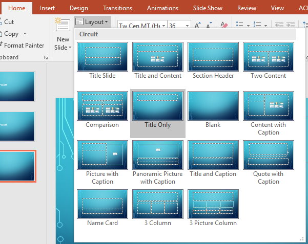 PowerPoint Slide Layout Screenshot